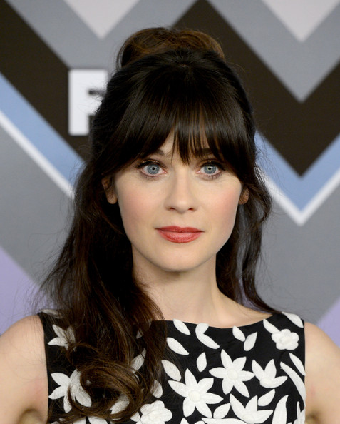 More Pics of Zooey Deschanel Print Dress (4 of 8) - Zooey Deschanel Lookbook - StyleBistro