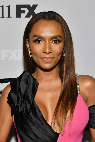 Janet Mock was elegantly coiffed with this silken straight 'do at the premiere of 'Pose' season 2.