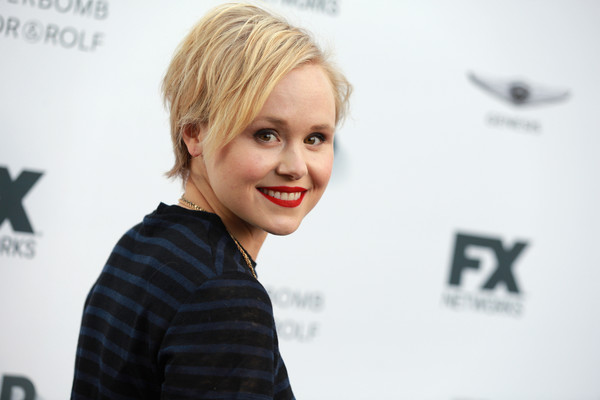 Alison Pill showed her edgy side with this layered razor cut at the FX and Vanity Fair Emmy celebration.