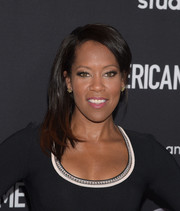 Regina King sported a simple side-swept hairstyle at the FYC screening of 'American Crime.'