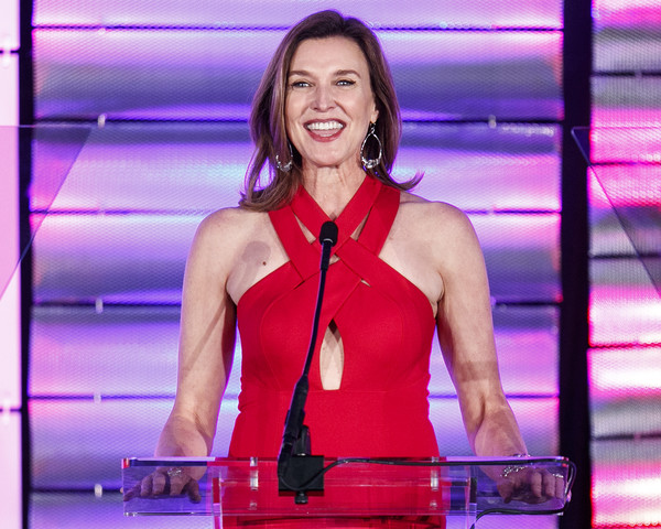 More Pics of Brenda Strong Cutout Dress (1 of 9) - Brenda Strong Lookbook - StyleBistro [muscle,performance,television presenter,event,chest,singer,brenda strong,beverly wilshire hotel,california,beverly hills,family equality council,impact awards]