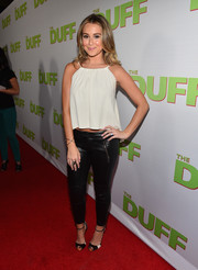 Alexa Vega looked breezy in a loose white crop-top during the fan screening of 'The Duff.'