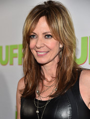 Allison Janney rocked a messy-chic layered 'do at the fan screening of 'The Duff.'