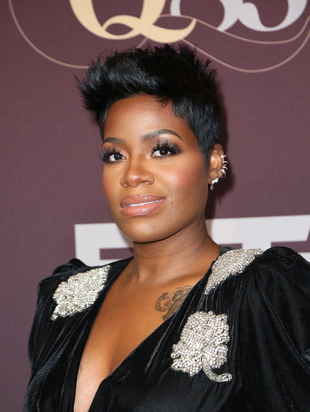 Fantasia Barrino Fauxhawk [q 85: a musical celebration for quincy jones,hair,hairstyle,black hair,eyebrow,beauty,makeover,ringlet,fashion accessory,smile,jewellery,fantasia,los angeles,california,microsoft theater,bet networks]
