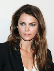 Keri Russell styled her locks with edgy-chic wavy layers for the screening of 'Fargo.'