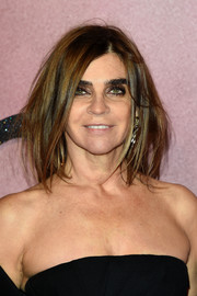 Carine Roitfeld attended the Fashion Awards 2016 rocking a messy lob.