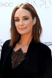 Catt Sadler sported a simple yet chic layered cut at the StyleWeekOC event.