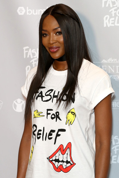 More Pics of Naomi Campbell Long Straight Cut (1 of 7) - Naomi Campbell Lookbook - StyleBistro [relief cannes 2018 photocall,white,clothing,t-shirt,hairstyle,yellow,shoulder,cool,neck,long hair,black hair,naomi campbell,fashion,cannes,france,martinez hotel,fashion for relief cannes,cannes film festival,photocall]