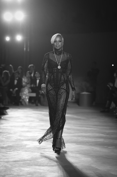 More Pics of Mary J. Blige Sheer Dress (1 of 4) - Mary J. Blige Lookbook - StyleBistro [image,runway,fashion,monochrome,fashion design,fashion show,black-and-white,fashion model,human,event,haute couture,mary j. blige,fashion,relief - runway,fashion for relief,runway,aeroport cannes mandelieu,cannes,the 70th annual cannes film festival,event]