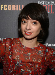 Kate Micucci went old-school with this bob at the Fast Company Grill.