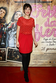 Diane Fleri may have used Minnie Mouse as her outfit muse but we are so glad she did! This dress was cute as a button.