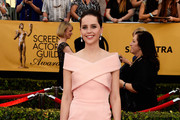 Felicity Jones Off-the-Shoulder Dress