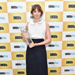 Felicity Jones in Atlantique Ascoli accepting her IMDB STARmeter award