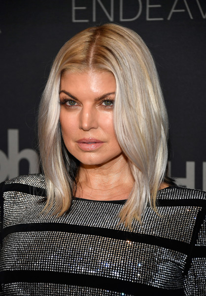 Fergie Mid-Length Bob [hair,face,blond,hairstyle,eyebrow,chin,layered hair,lip,beauty,long hair,arrivals,fergie,planet hollywood resort casino,las vegas,nevada,miss universe pageant]