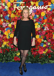 Kathy Hilton kept her look super simple with a black shift dress.
