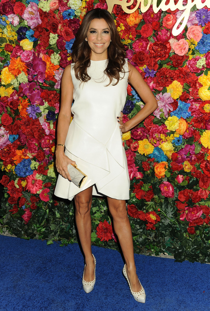 Actress Eva Longoria attends the Ferragamo Celebrates The Launch Of L'Icona Highlighting The 35th Anniversary Of Vara at The McKittrick Hotel, Home of Sleep No More on April 30, 2013 in New York City.