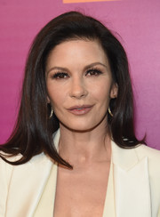 Catherine Zeta-Jones looked simple lovely with her loose, side-parted style at the 'Feud: Bette and Joan' NYC event.