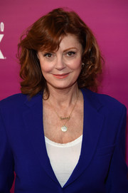 Susan Sarandon attended the 'Feud: Bette and Joan' NYC event wearing her hair in high-volume curls.