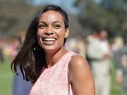 Rosario Dawson upped the cool factor with a shaved side parted hairdo at the 5th Annual Veuve Clicquot Polo Classic.