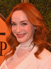 Christina Hendricks kept her hair down in loose curls for the 5th Annual Veuve Clicquot Polo Classic.