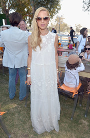 Rachel Zoe looked angelic in a long white dress with lace inserts at the 5th Annual Veuve Clicquot Polo Classic.