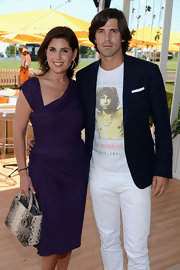 Nacho Figueras styled up his Jim Morrison tee with an elegant navy blazer at the Veuve Clicquot Polo Classic.