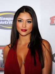Arianny Celeste wore her long locks straight with a center part at the Mixed Martial Arts Awards.