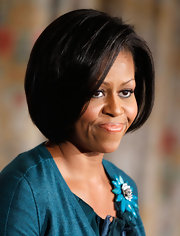 Michelle Obama looked classic with this high-volume face-framing bob at the Let's Move! event.