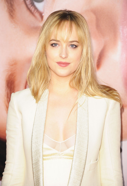 More Pics of Dakota Johnson Long Straight Cut with Bangs (1 of 3) - Dakota Johnson Lookbook - StyleBistro