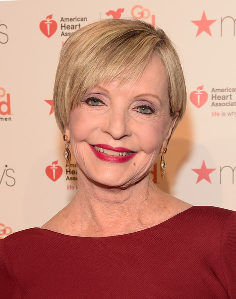 Florence Henderson Short Side Part [hair,face,hairstyle,eyebrow,lip,blond,chin,skin,forehead,hair coloring,florence henderson,arrivals,skylight,moynihan station,new york city,the arc,american heart associations go red for women red dress collection 2016,macys,the american heart associations go red for women red dress collection 2016]