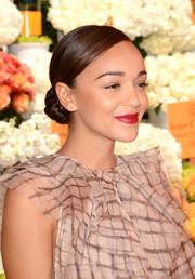 Ashley Madekwe played up her lips with a sexy red hue.