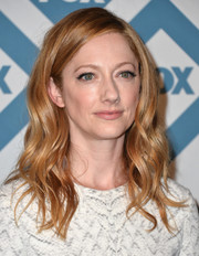 Judy Greer was romantic-chic with her billowy waves at the Fox All-Star party.
