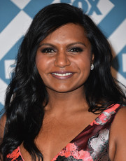 Mindy Kaling looked girly with her subtly wavy, side-parted 'do at the Fox All-Star party.