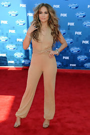 Jennifer Lopez stood tall at the finale of 'American Idol 2011' in gold snakeskin Kelis heels.
