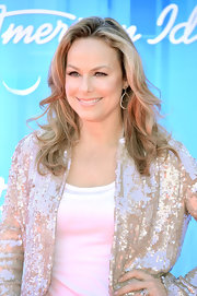 Melora Hardin wore her hair casually tousled for the 'American Idol' 2012 finale.