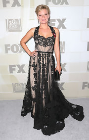 Martha looked romantic in her black lace gown at the Emmy Awards.