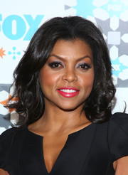 Taraji P. Henson looked ultra girly with her center-parted curls at the Fox Summer TCA All-Star Party.