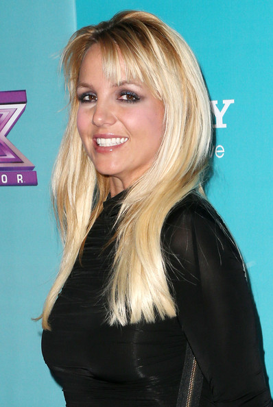 More Pics of Britney Spears Long Straight Cut with Bangs (1 of 15) - Britney Spears Lookbook - StyleBistro