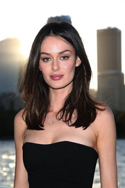 Nicole Trunfio wore her hair down in tousled layers when she attended the Foxtel Music Channels summer launch.
