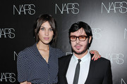 Television personality Alexa Chung (L) and Francois Nars attend the book celebration for