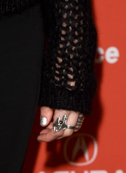 Imogen Poots went for edgy styling with a silver statement ring at the Sundance premiere of 'Frank & Lola.'