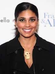 Rachel Roy showed off a funky skull pendant necklace while attending the 'Frankie & Alice' premiere.