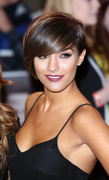 Frankie Sandford Emo Bangs [premiere - arrivals,frankie sandford,the twilight saga: breaking dawn part 2 - uk,uk premiere of the twilight saga: breaking dawn - part 2,hair,hairstyle,face,beauty,chin,brown hair,eyebrow,blond,bangs,lip,odeon leicester square,england,london]