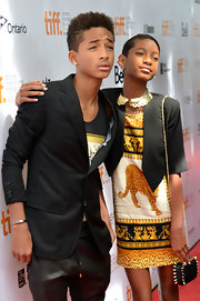 Jaden Smith layered a dapper black blazer over a tank top for his 2012 Toronto International Film Festival red carpet look.