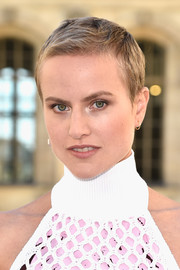 Olympia Scarry rocked a boyish 'do at the Christian Dior fashion show.