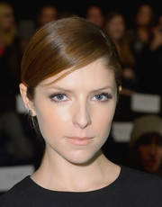 Anna Kendrick went for simple styling with this sleek ponytail when she attended the J. Mendel fashion show.