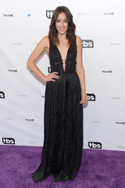 Chloe Bennet made an alluring choice with this plunging black gown for the Not the White House Correspondents' Dinner.