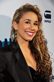 Haley Reinhart wore her long tresses in spiral curls at the G-Star Rodeo Drive store opening.