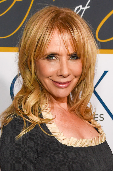 Rosanna Arquette sported loose waves with parted bangs at the Eight Decades of Jane celebration.