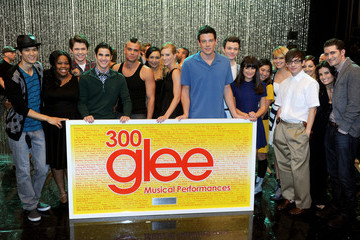 "Lea Michele Heather Morris ""GLEE"" 300th Musical Performance Special Taping"